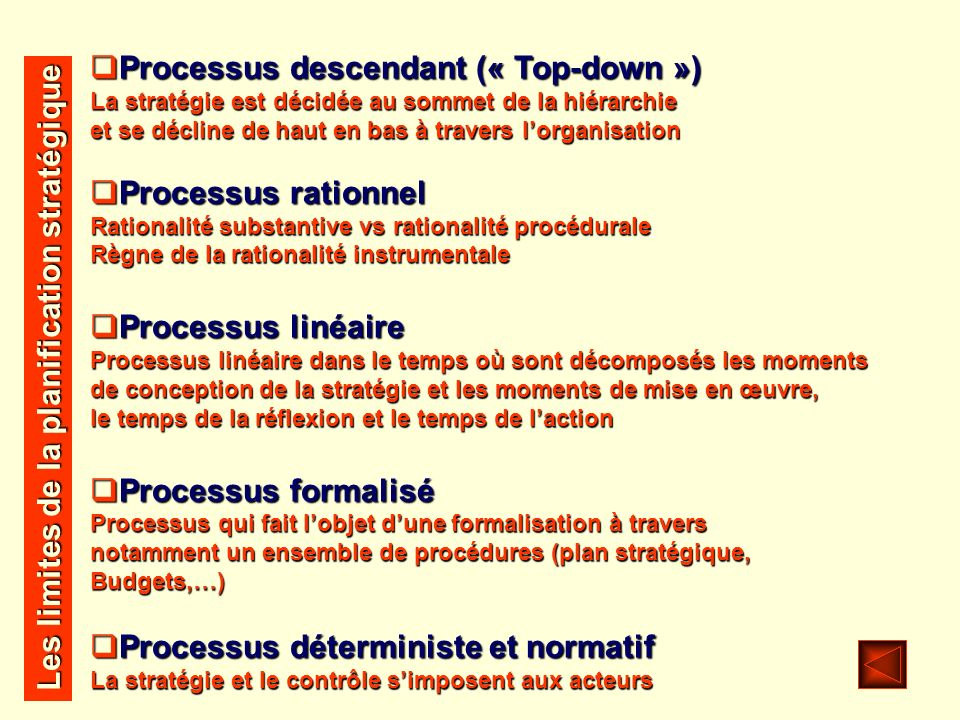 Processus descendant (« Top-down »)