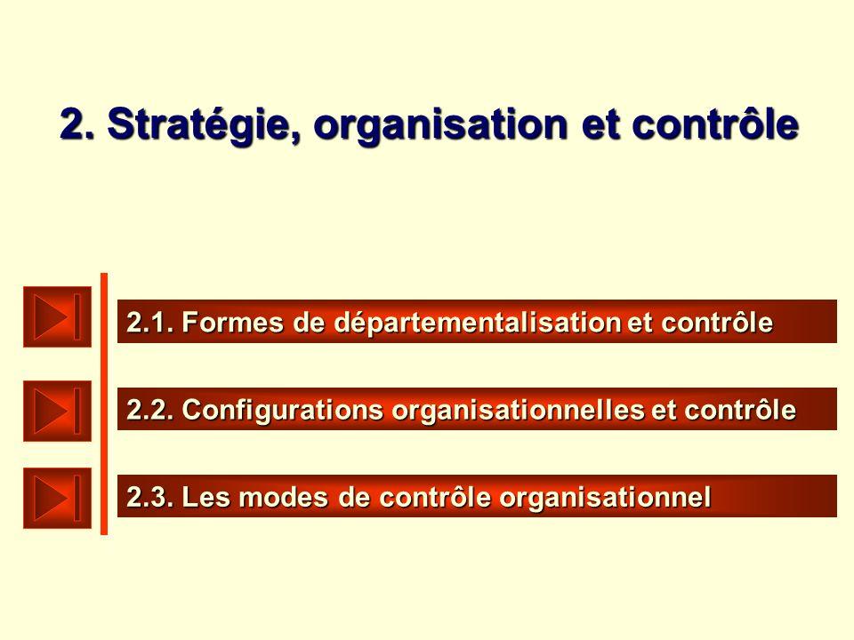 2. Stratégie, organisation et contrôle
