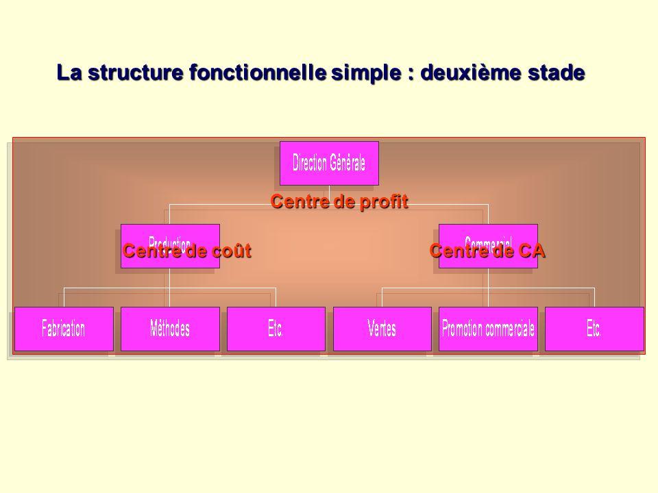 La structure fonctionnelle simple : deuxième stade