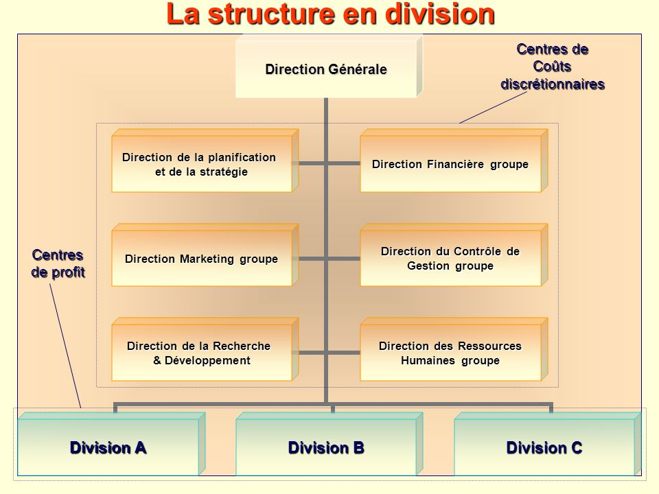 La structure en division