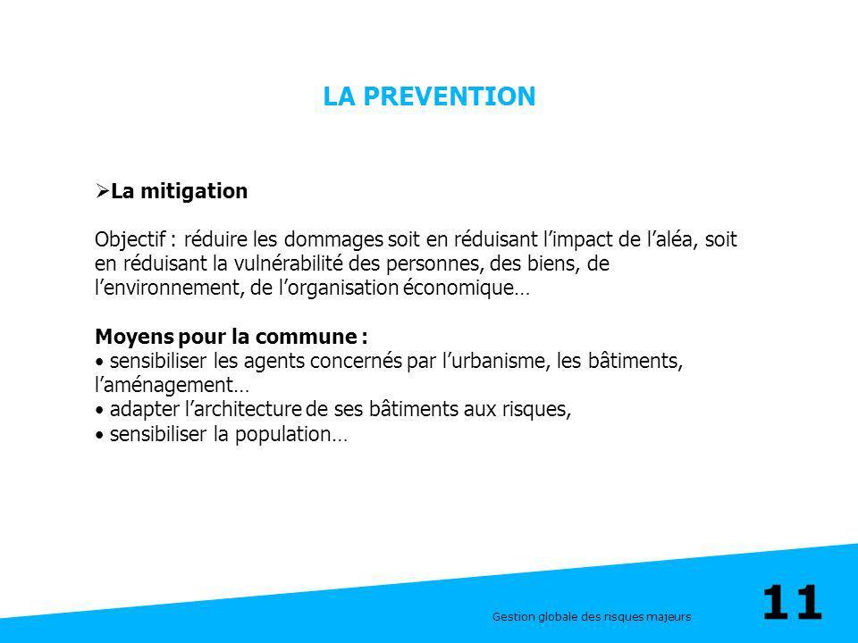 LA PREVENTION La mitigation