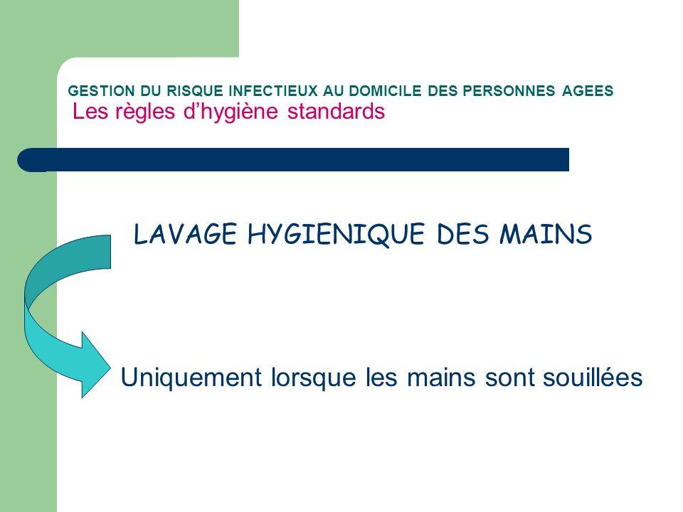 LAVAGE HYGIENIQUE DES MAINS