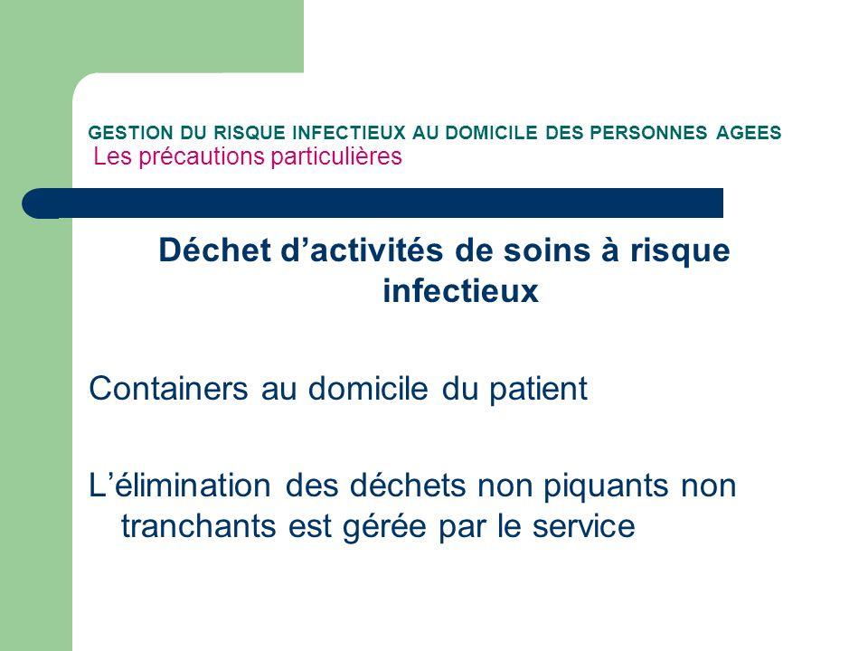 Déchet d'activités de soins à risque infectieux
