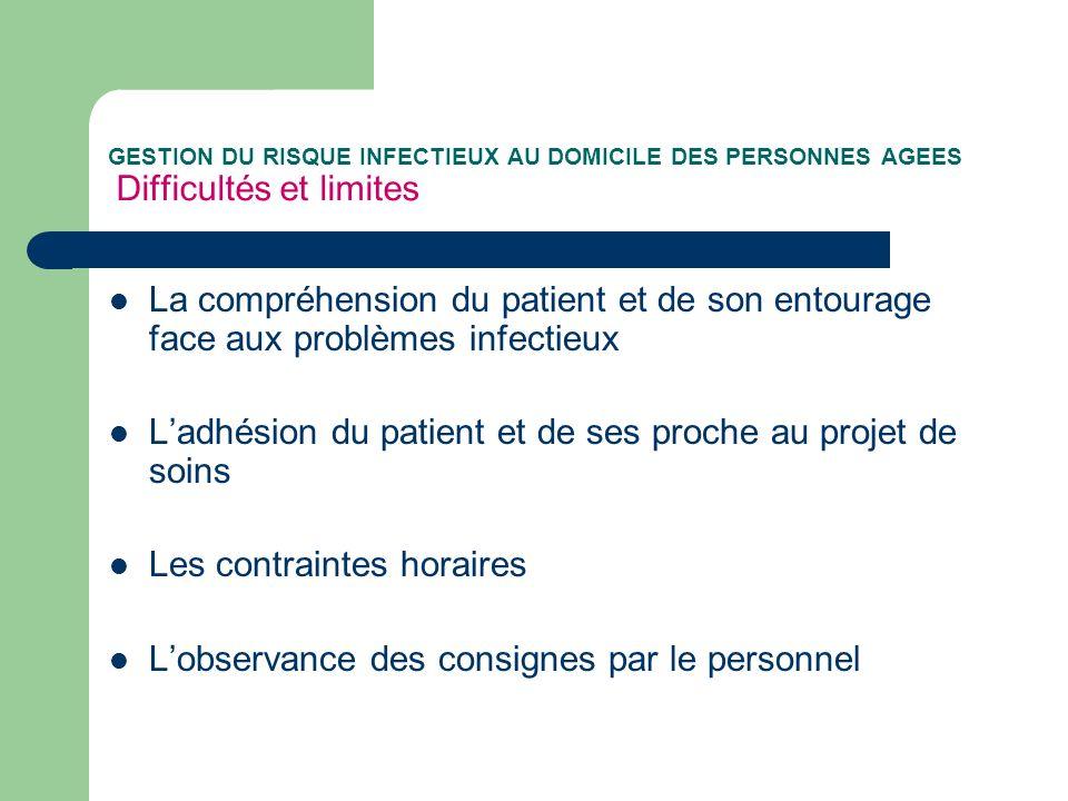 L'adhésion du patient et de ses proche au projet de soins