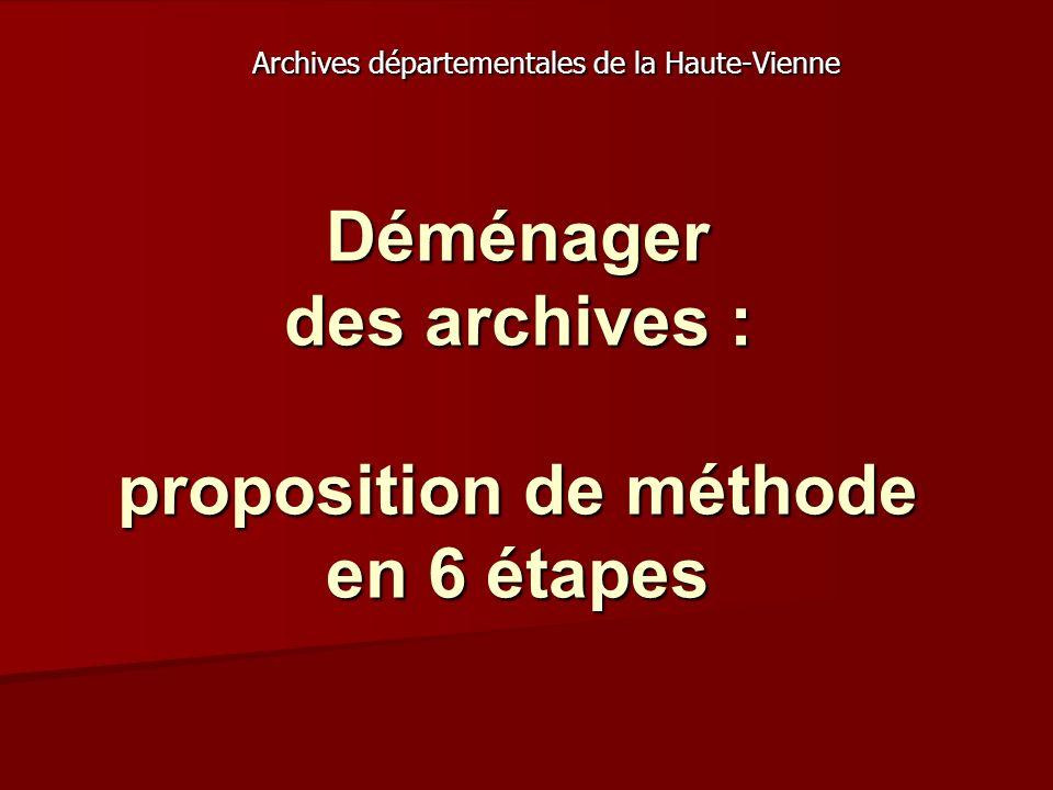 Déménager des archives : proposition de méthode en 6 étapes