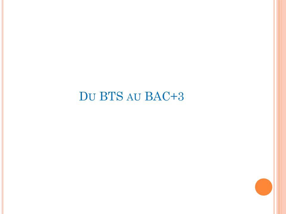 Du BTS au BAC+3