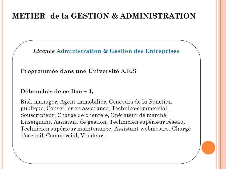 Licence Administration & Gestion des Entreprises