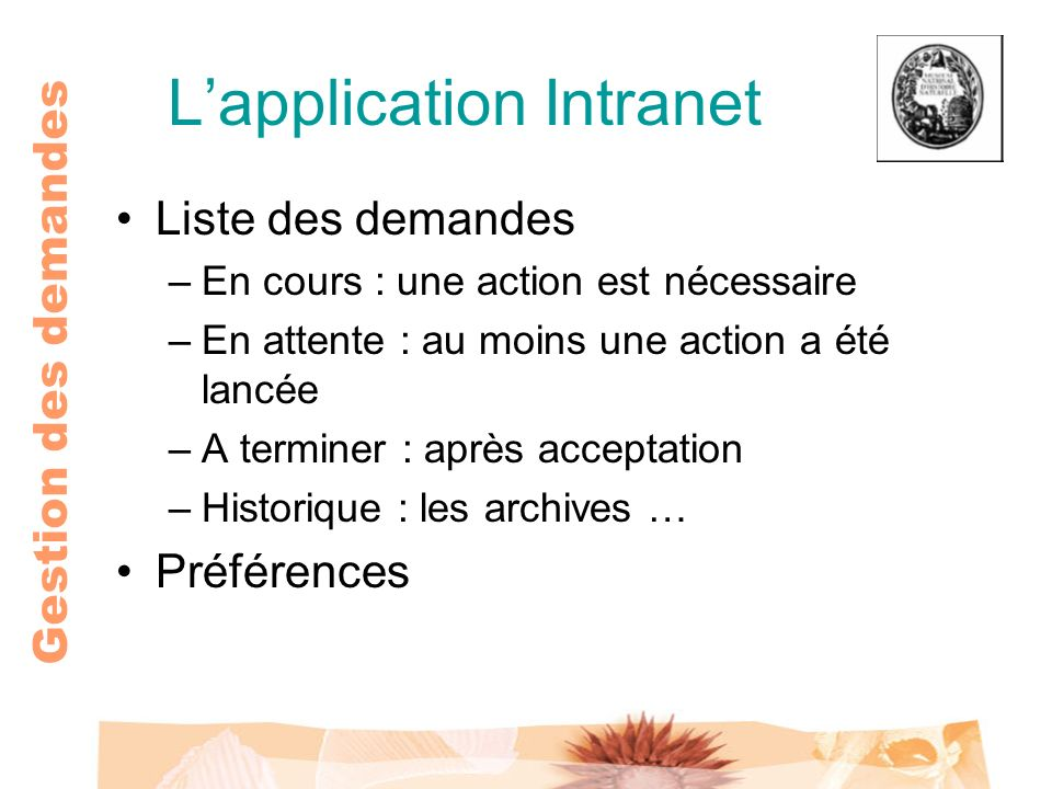 L'application Intranet