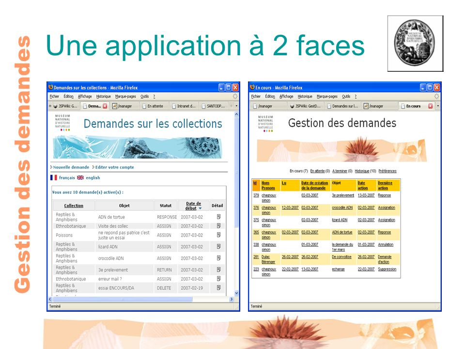 Une application à 2 faces