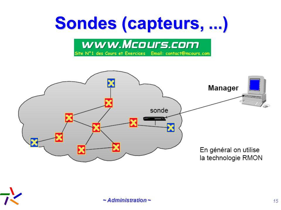 Sondes (capteurs, ...)