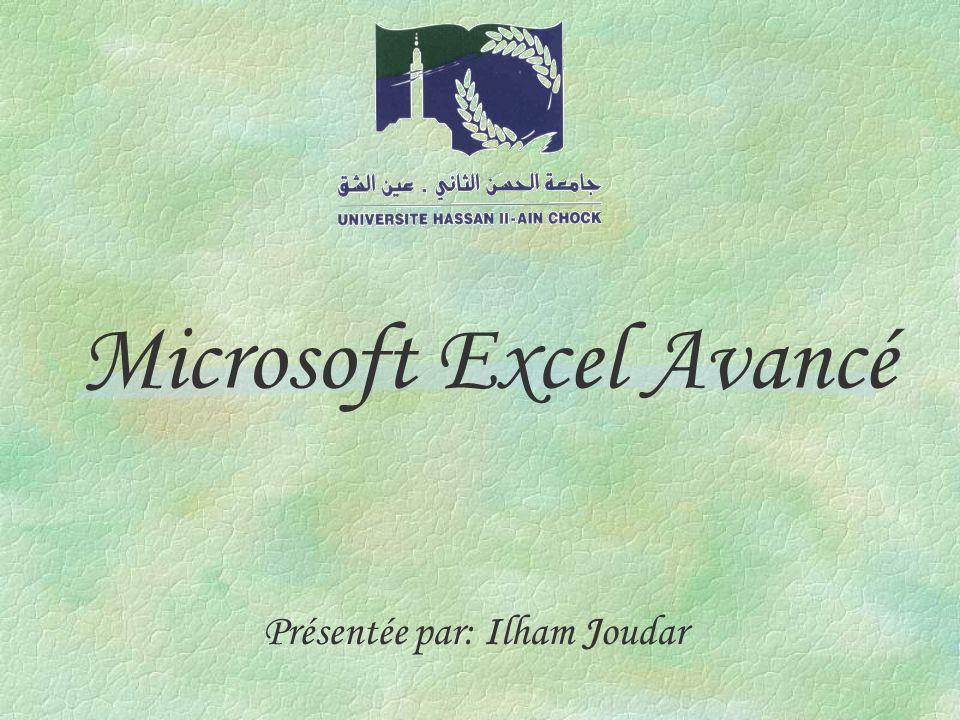 Microsoft Excel Avancé