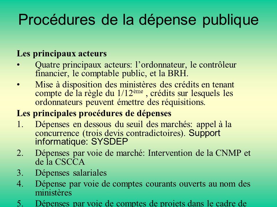 Procédures de la dépense publique