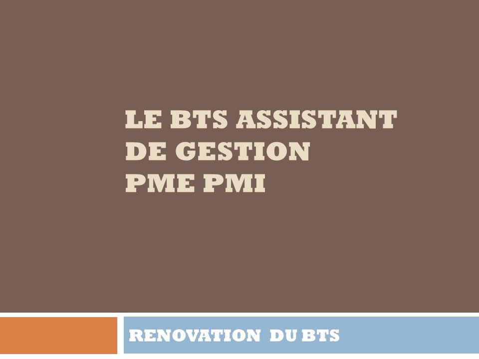 le bts assistant de gestion pme pmi