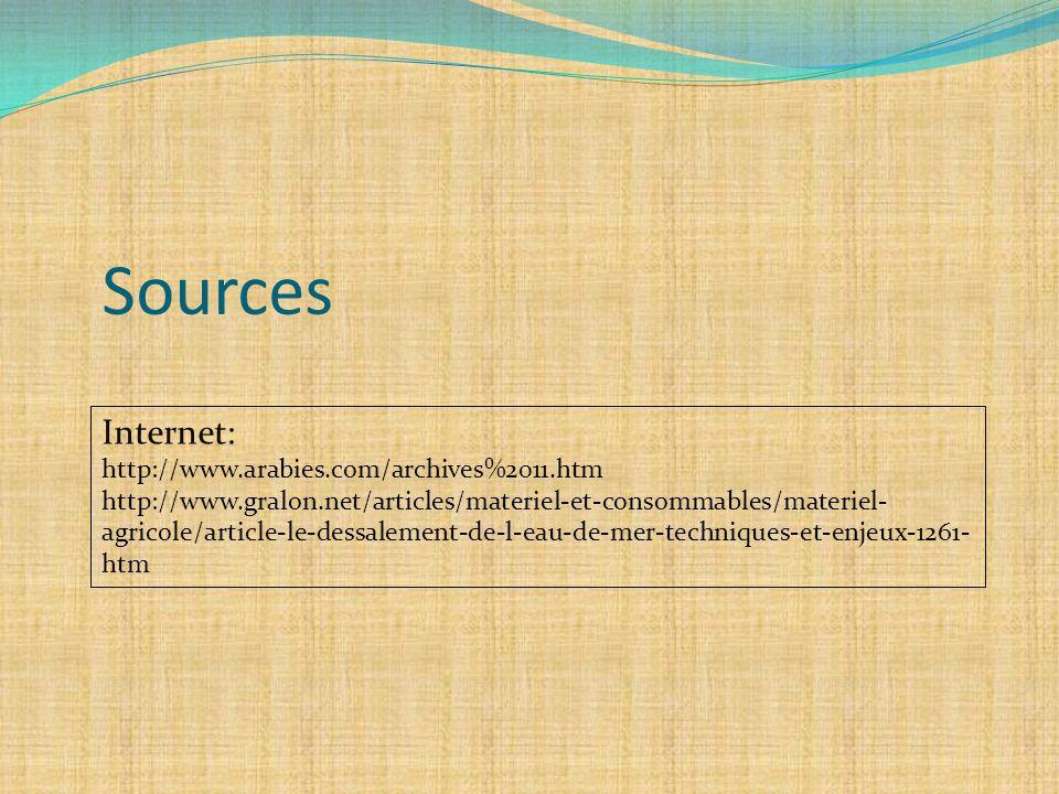 Sources Internet: http://www.arabies.com/archives%2011.htm