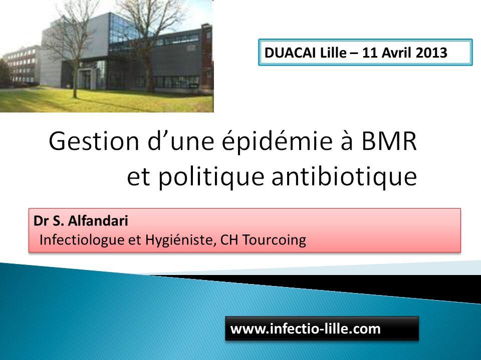 Gestion d'une épidémie à BMR et politique antibiotique