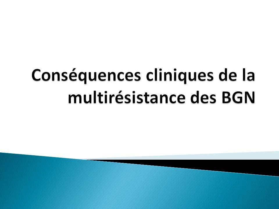 Conséquences cliniques de la multirésistance des BGN