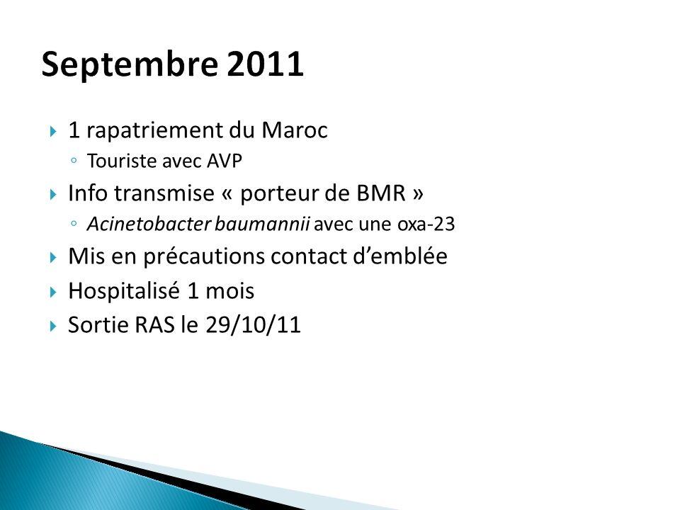 Septembre 2011 1 rapatriement du Maroc