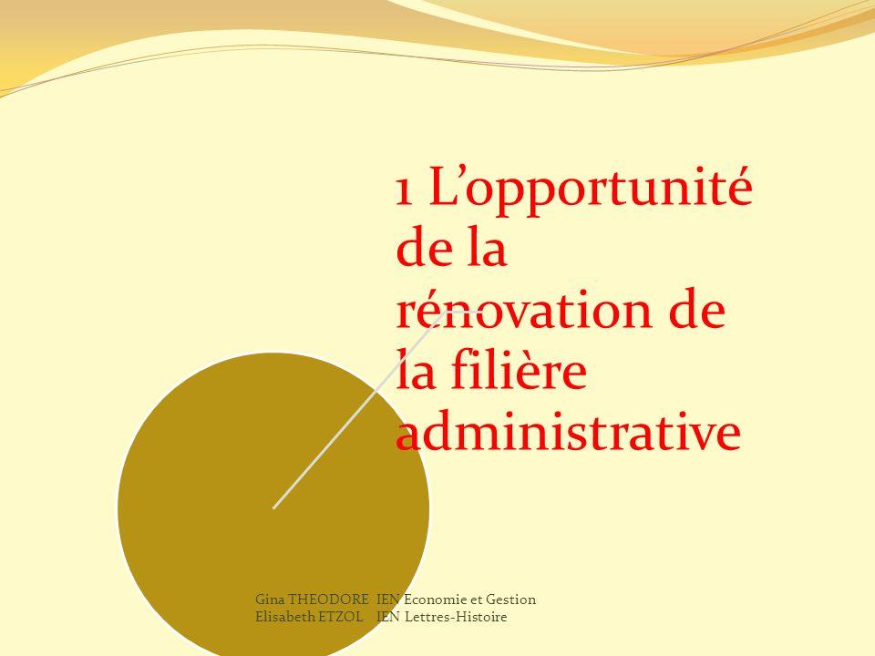 1 L'opportunité de la rénovation de la filière administrative