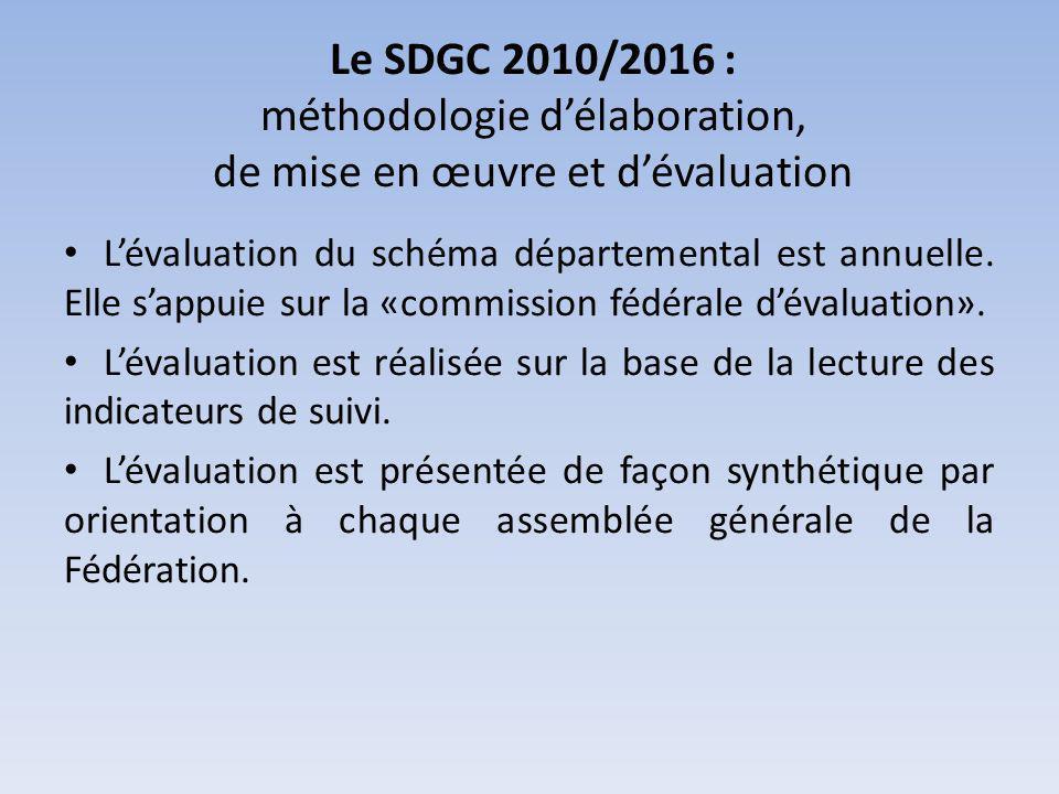 Le SDGC 2010/2016 : méthodologie d'élaboration, de mise en œuvre et d'évaluation