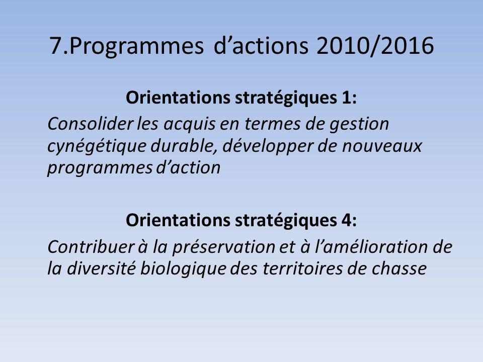 7.Programmes d'actions 2010/2016
