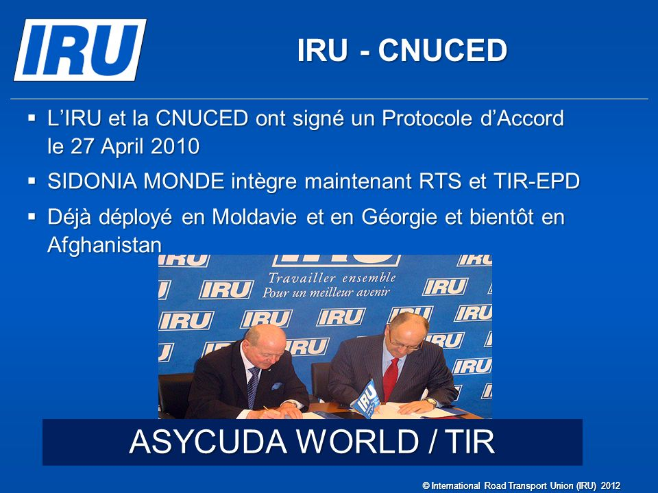 ASYCUDA WORLD / TIR IRU - CNUCED