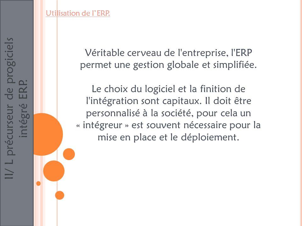 II/ L précurseur de progiciels intégré ERP.