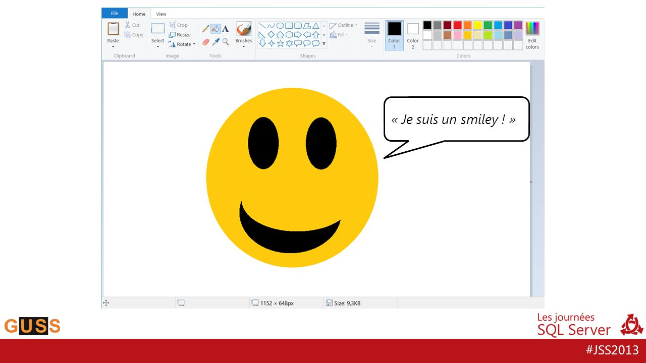« Je suis un smiley ! »