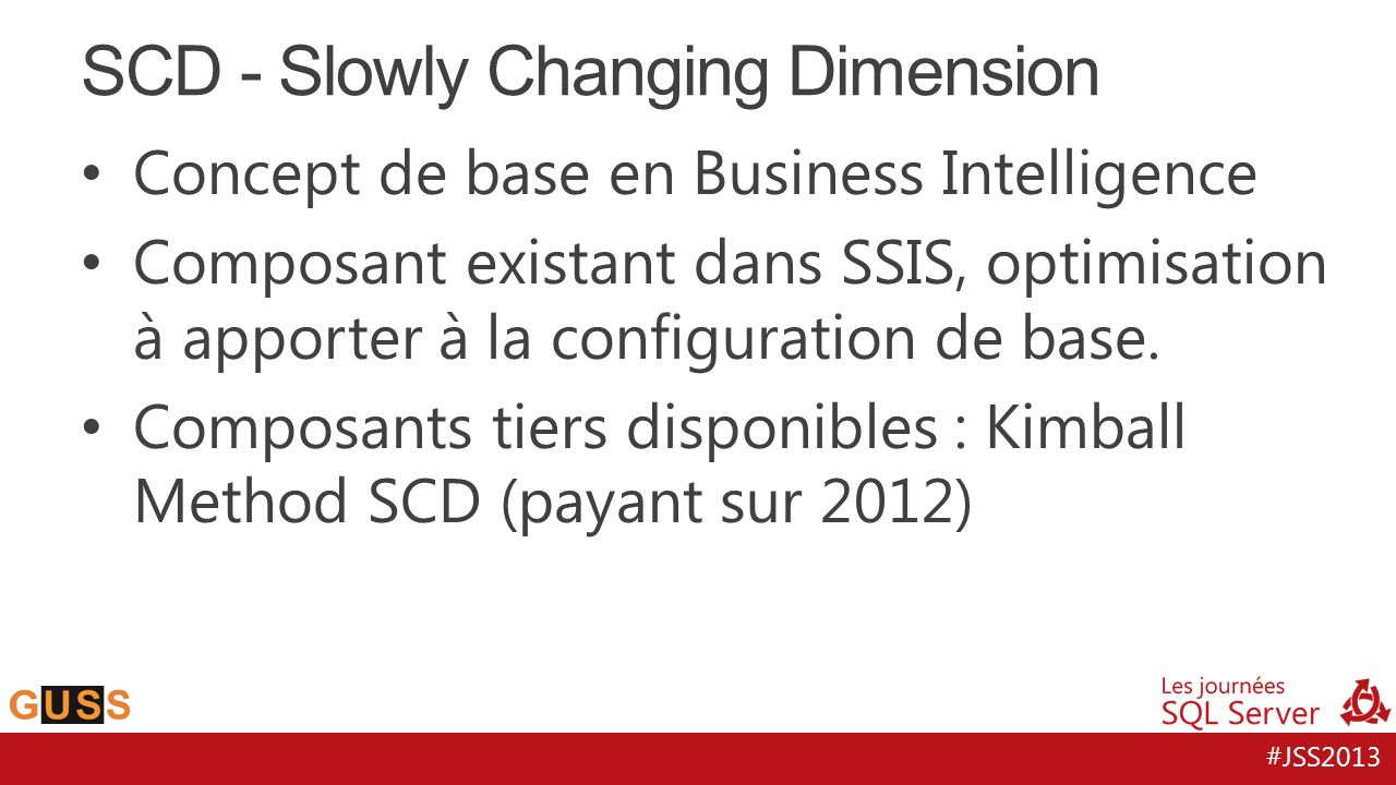 SCD - Slowly Changing Dimension