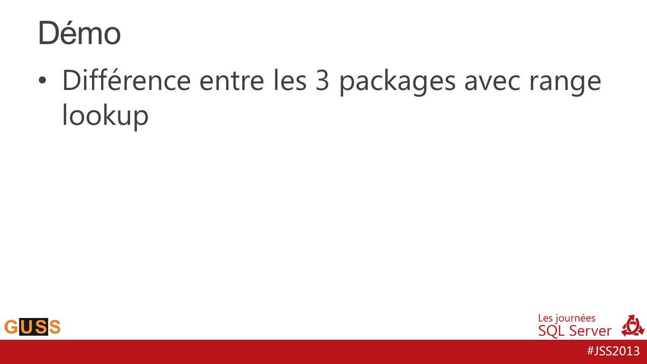 Démo Différence entre les 3 packages avec range lookup