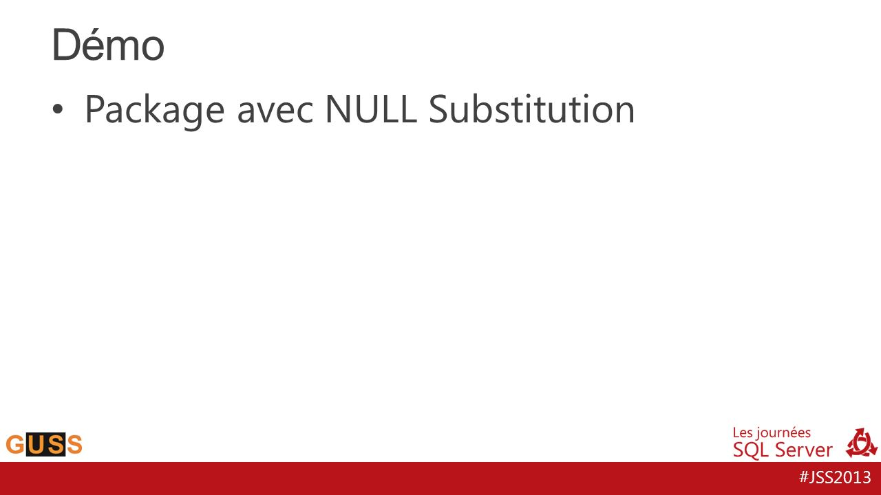 Démo Package avec NULL Substitution