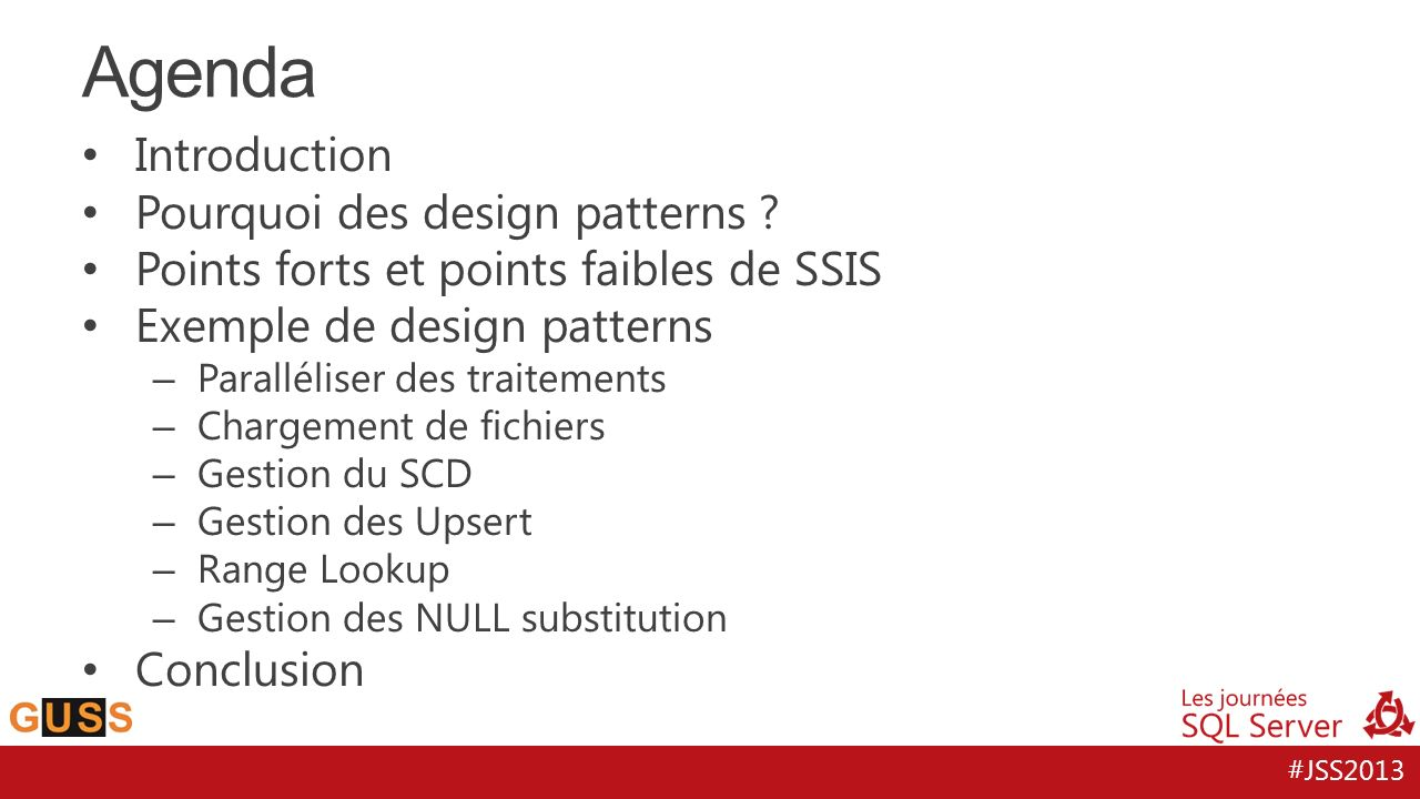 Agenda Introduction Pourquoi des design patterns