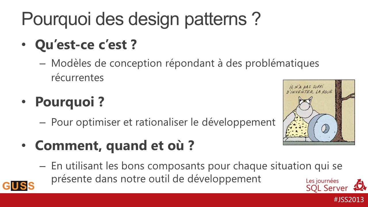 Pourquoi des design patterns