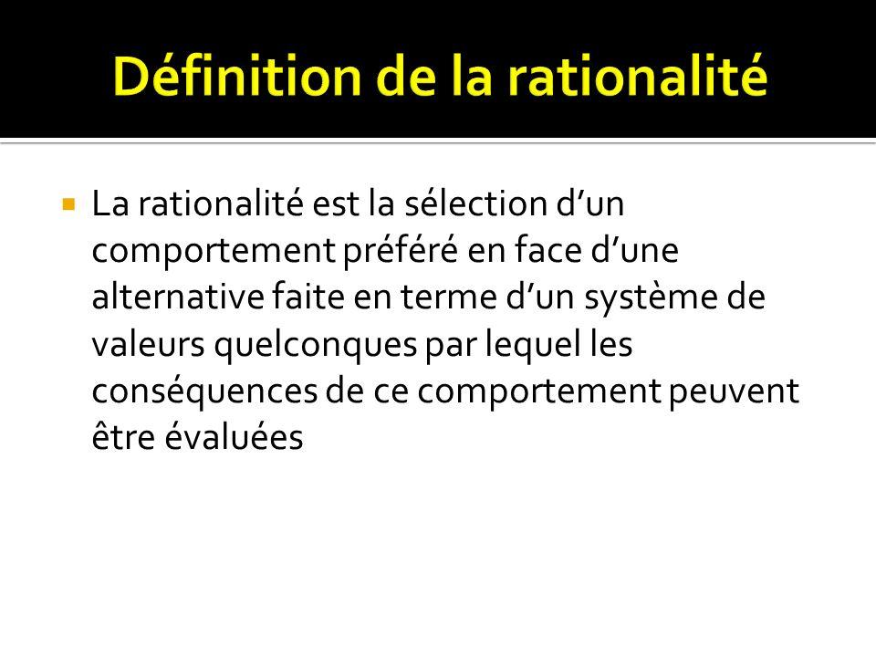 Définition de la rationalité