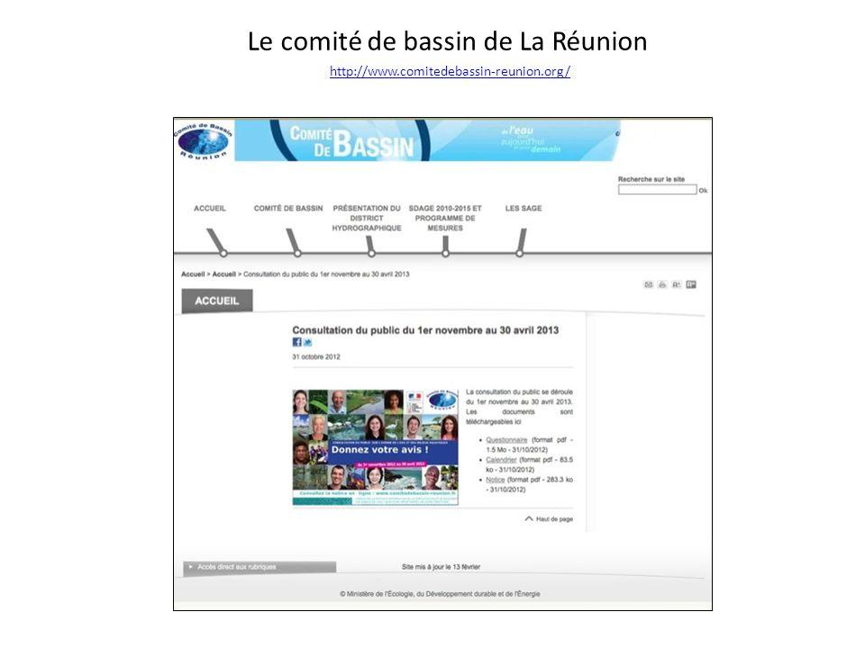 Le comité de bassin de La Réunion http://www. comitedebassin-reunion