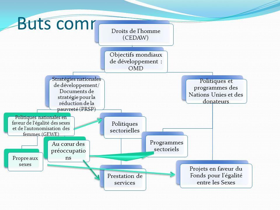Buts communs Droits de l homme (CEDAW)