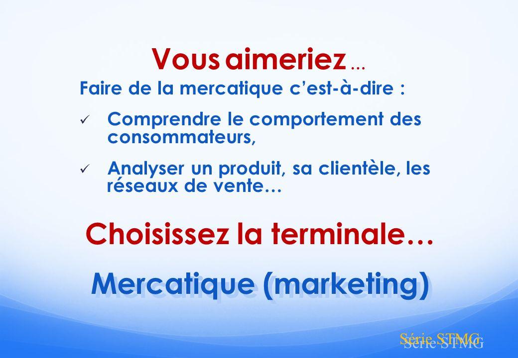 Choisissez la terminale… Mercatique (marketing)