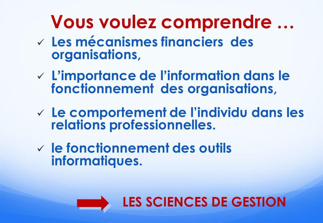 LES SCIENCES DE GESTION