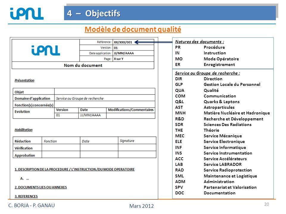 Modèle de document qualité