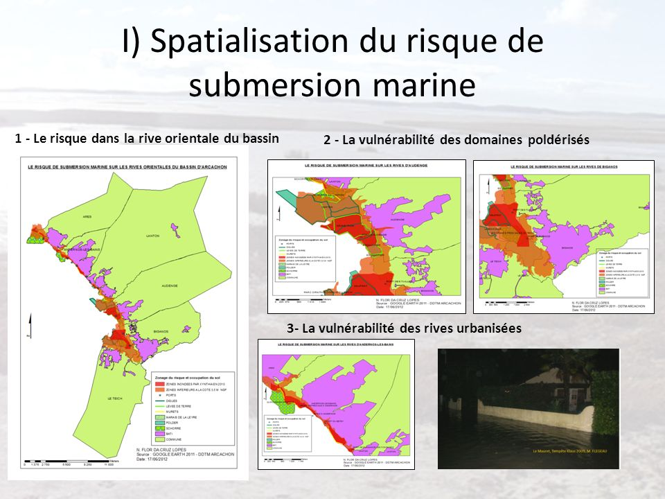 I) Spatialisation du risque de submersion marine