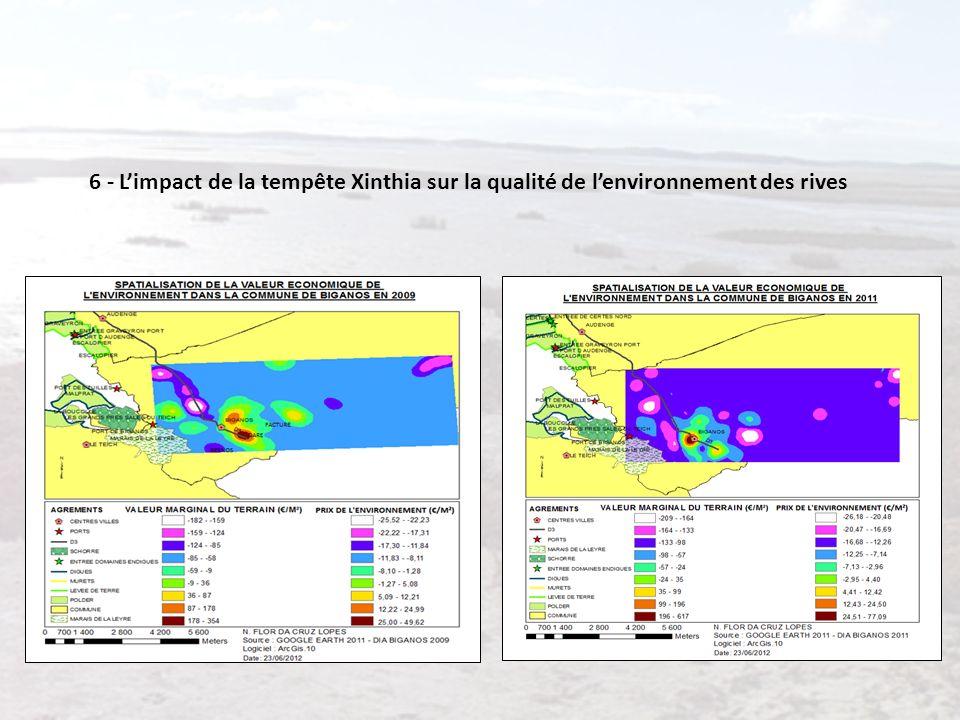 6 - L'impact de la tempête Xinthia sur la qualité de l'environnement des rives