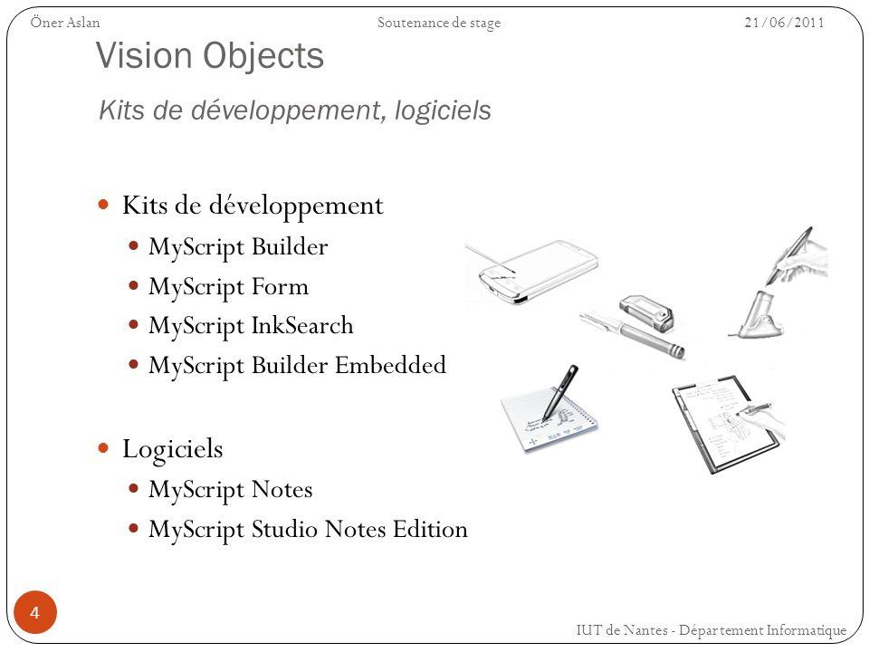Vision Objects Kits de développement, logiciels