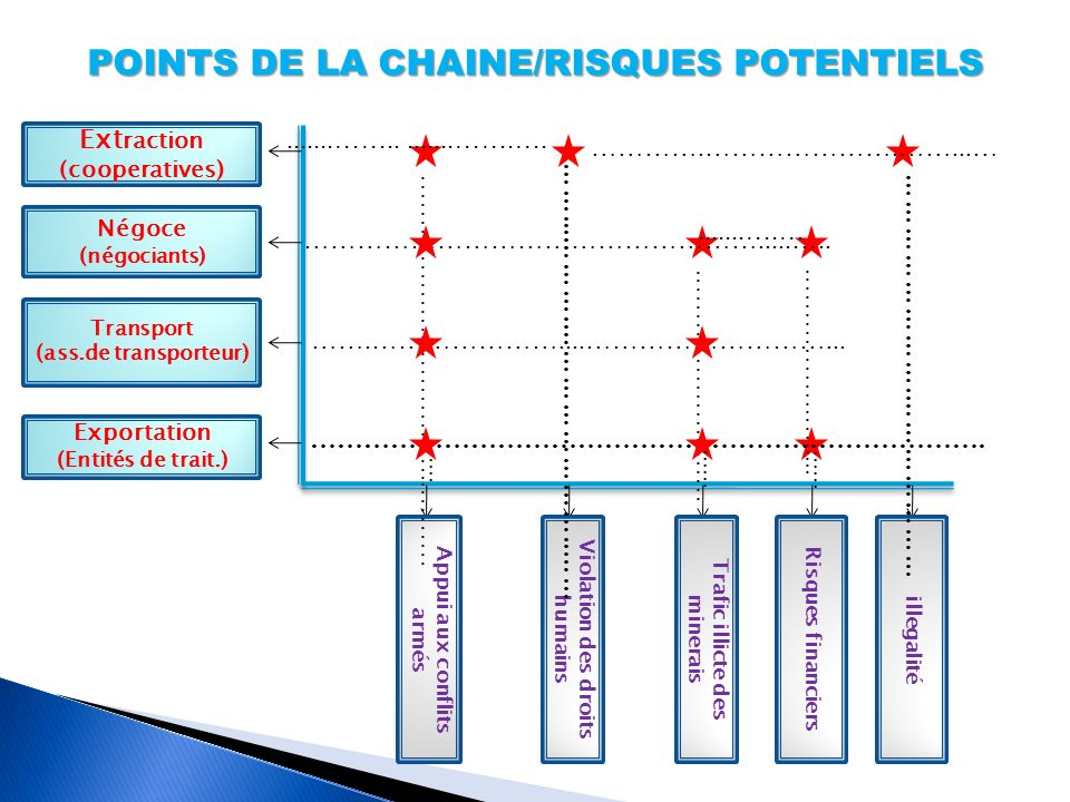 POINTS DE LA CHAINE/RISQUES POTENTIELS