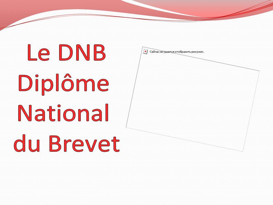 Le DNB Diplôme National du Brevet