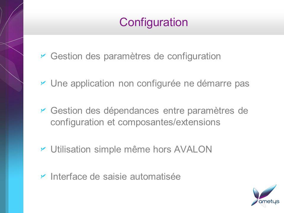 Configuration Gestion des paramètres de configuration