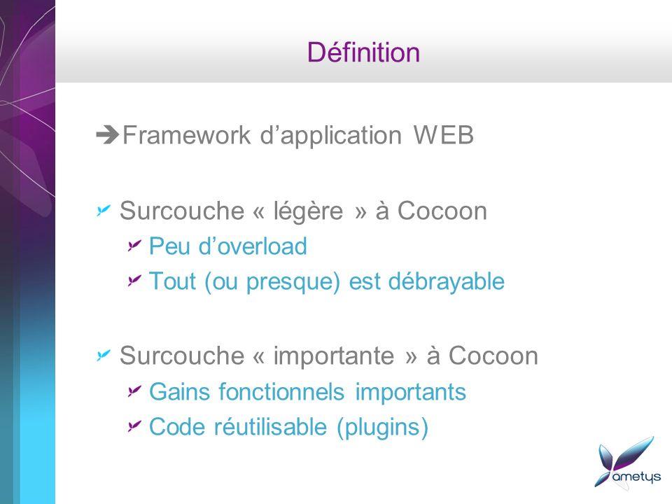 Définition Framework d'application WEB Surcouche « légère » à Cocoon