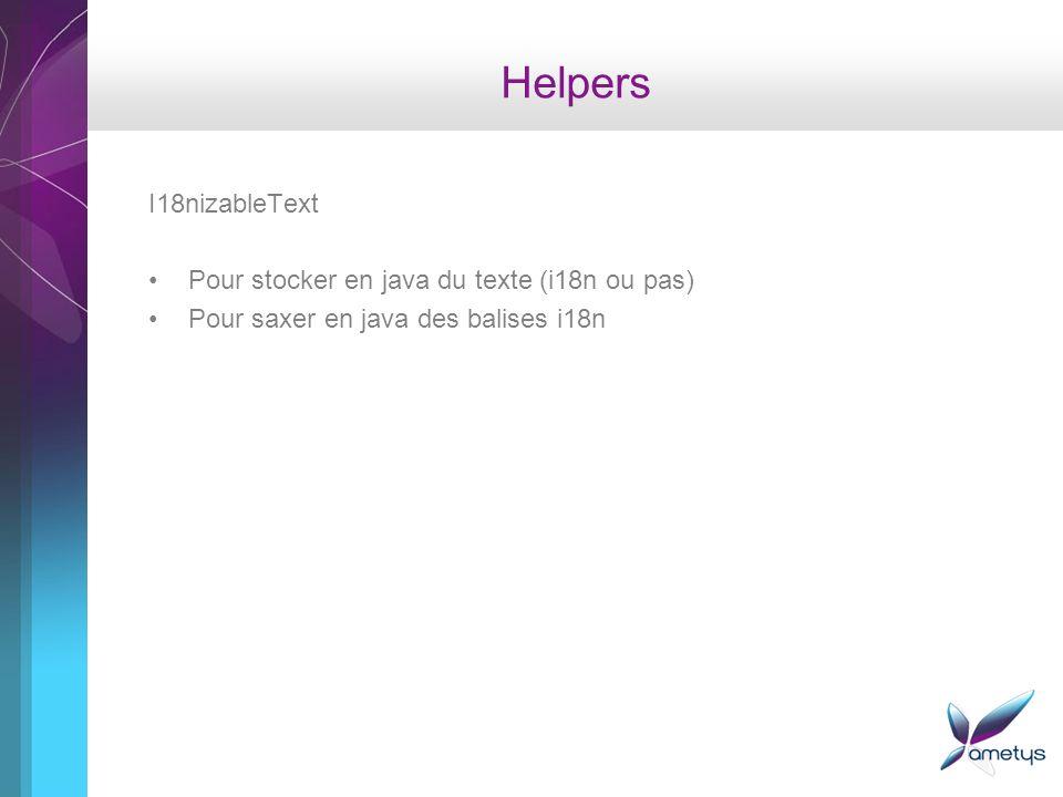 Helpers I18nizableText Pour stocker en java du texte (i18n ou pas)