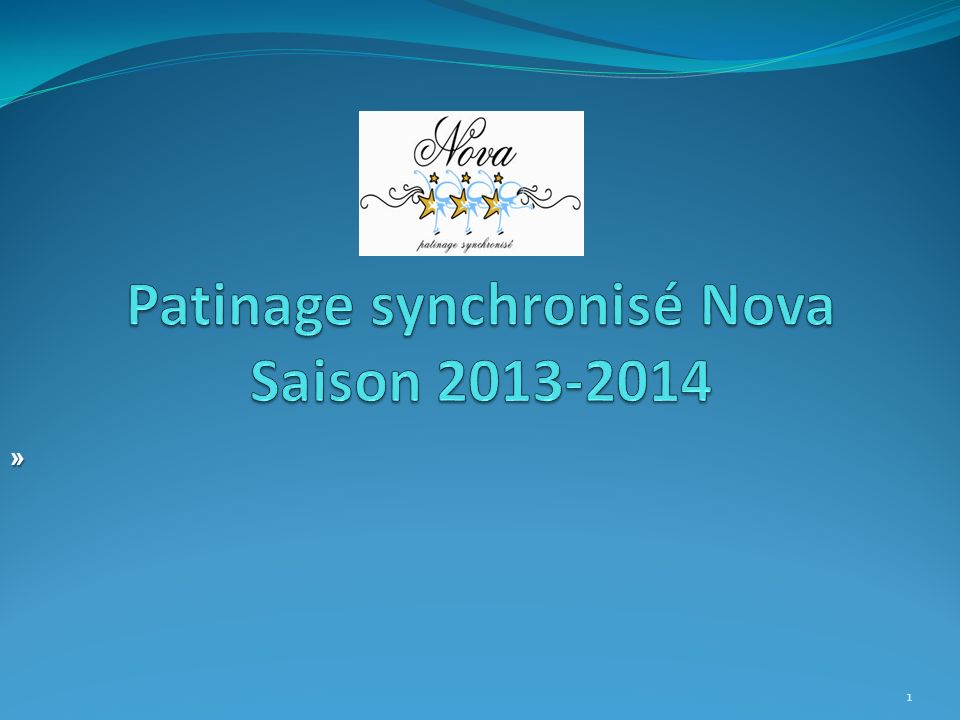 Patinage synchronisé Nova Saison 2013-2014