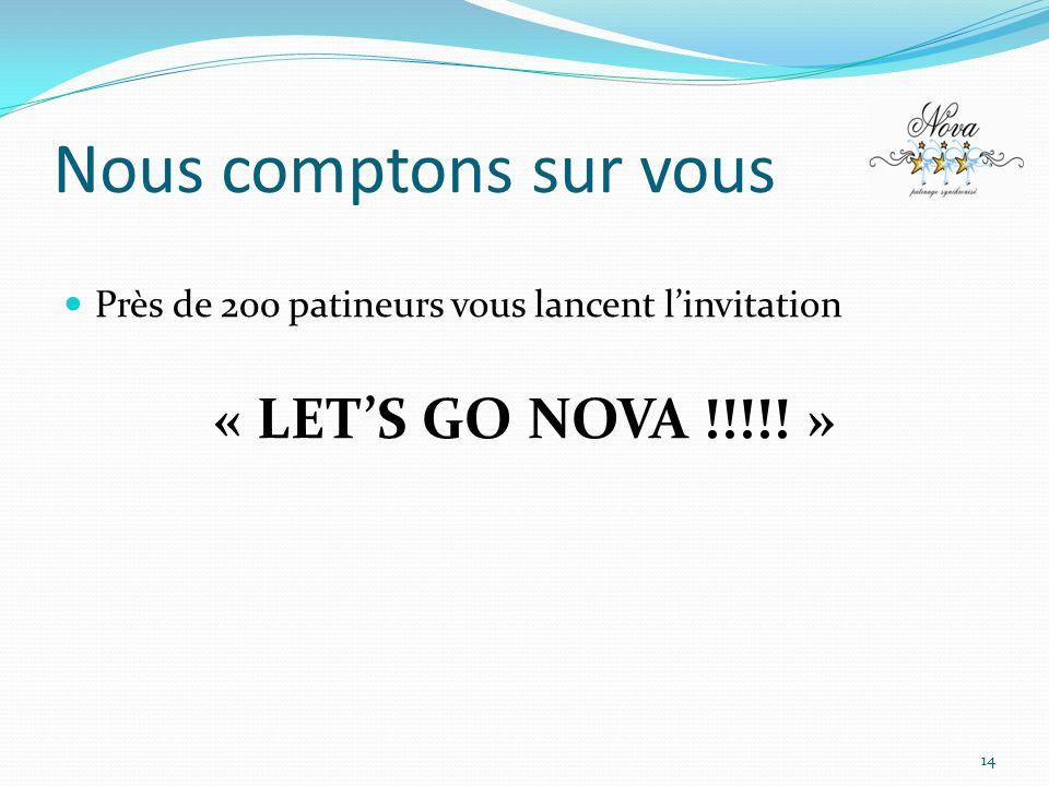 Nous comptons sur vous « LET'S GO NOVA !!!!! »