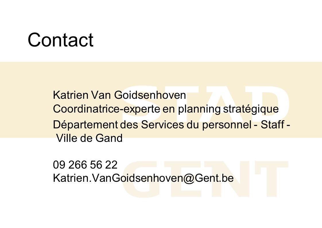 Contact Katrien Van Goidsenhoven Coordinatrice-experte en planning stratégique.