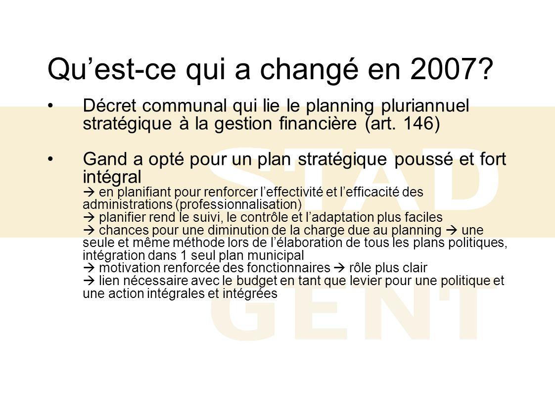 Qu'est-ce qui a changé en 2007